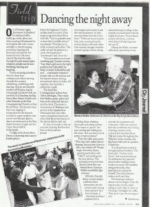 "Columbus Monthly - ""Dancing the night away"" - March 2000"